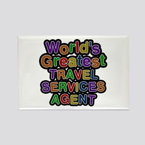 World's Greatest TRAVEL SERVICES AGENT Rectangle M