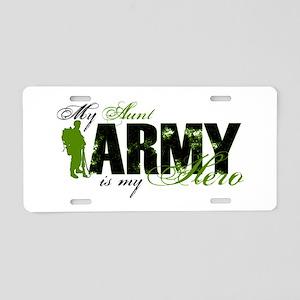 Aunt Hero3 - ARMY Aluminum License Plate