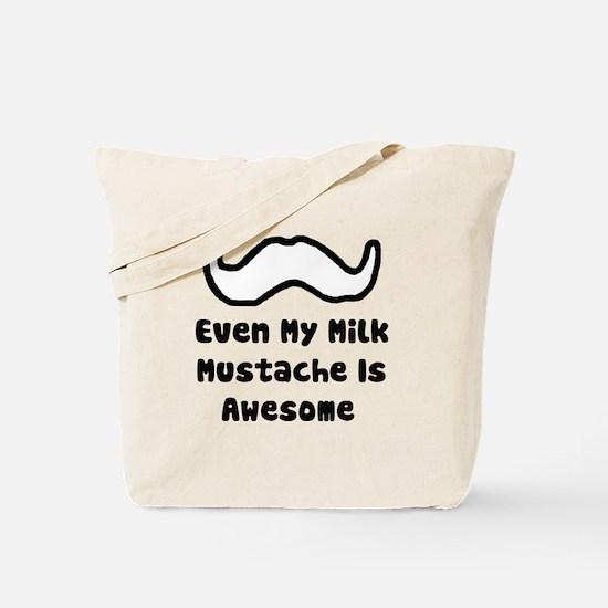 'Milk Mustache' Tote Bag