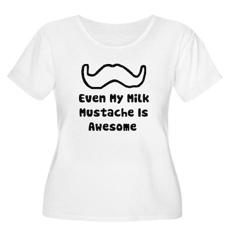'Milk Mustache' Women's Plus Size Scoop Neck T-Shi