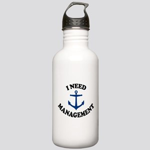 'Anchor Management' Stainless Water Bottle 1.0L