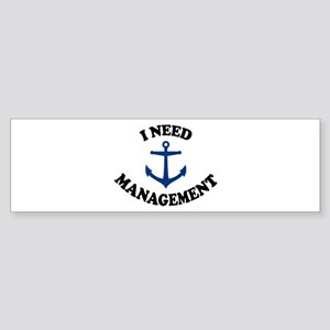 'Anchor Management' Sticker (Bumper)