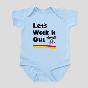 'Let's Work It Out' Infant Bodysuit