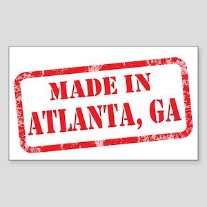 MADE IN ATLANTA Sticker (Rectangle)