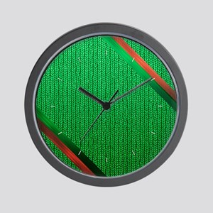 Green Christmas Sweater Wall Clock