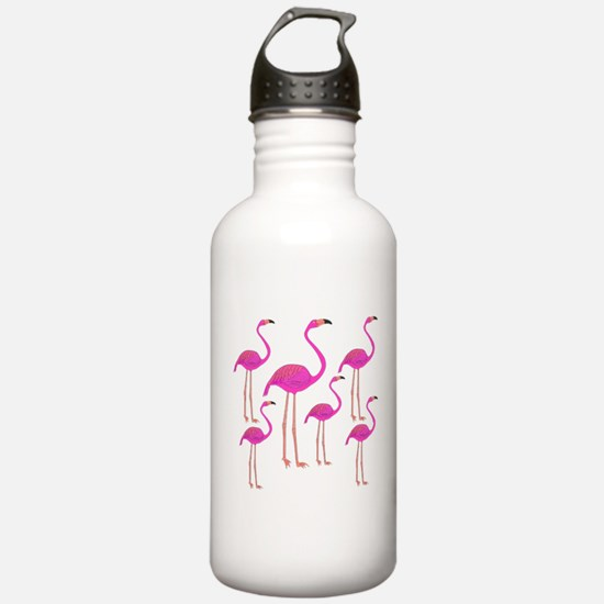 Flamingos Water Bottle