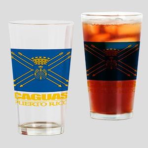 Caguas Flag Drinking Glass