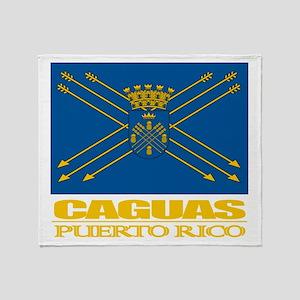 Caguas Flag Throw Blanket