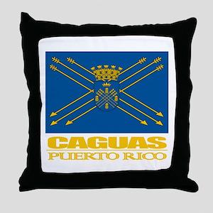 Caguas Flag Throw Pillow