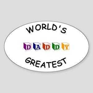 Greatest Daddy Oval Sticker