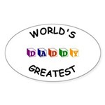 Greatest Daddy Oval Sticker