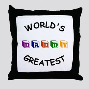 Greatest Daddy Throw Pillow