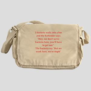 funny science joke Messenger Bag
