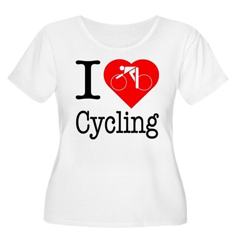 I Love Cycling Women's Plus Size Scoop Neck T-Shir
