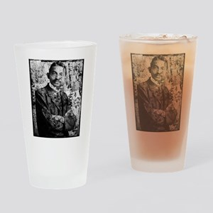 Young Gandhi - Old, Worn Photo Drinking Glass