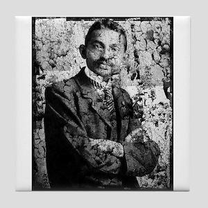 Young Gandhi - Old, Worn Photo Tile Coaster