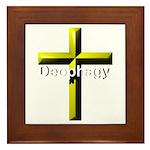 Deophagy Cross Framed Tile