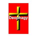 Deophagy Cross Mini Poster Print
