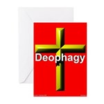 Deophagy Cross Greeting Cards (Pk of 10)
