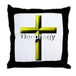 Deophagy Cross Throw Pillow
