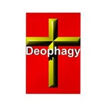 Deophagy Cross Rectangle Magnet (10 pack)