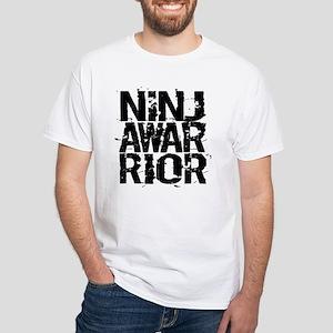 NINJA WARRIOR White T-Shirt