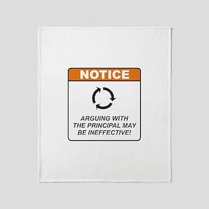 Principal / Argue Throw Blanket