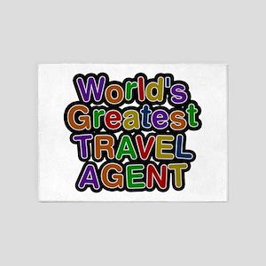 World's Greatest TRAVEL AGENT 5'x7' Area Rug