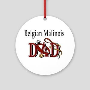 Belgian Malinois Dad Ornament (Round)