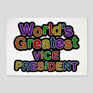 World's Greatest VICE PRESIDENT 5'x7' Area Rug