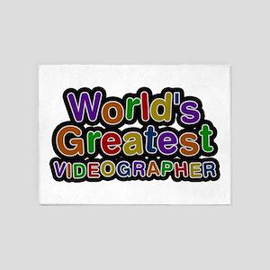 World's Greatest VIDEOGRAPHER 5'x7' Area Rug