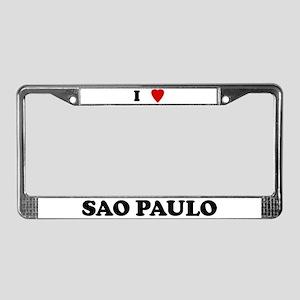 I Love Sao Paulo License Plate Frame