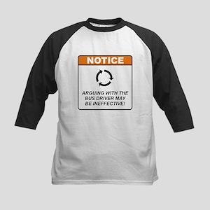 Bus Driver / Argue Kids Baseball Jersey
