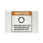 Bus Driver / Argue Rectangle Magnet (10 pack)