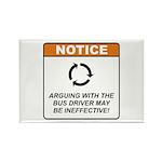 Bus Driver / Argue Rectangle Magnet (100 pack)