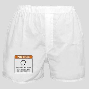 Bus Driver / Argue Boxer Shorts