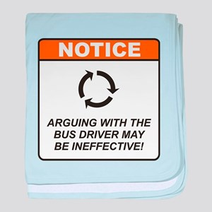 Bus Driver / Argue baby blanket