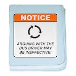 Bus Driver / Argue baby blanket