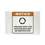 Accountant / Argue Rectangle Magnet (100 pack)
