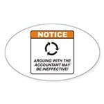 Accountant / Argue Sticker (Oval 10 pk)