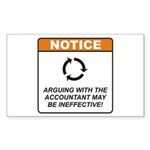 Accountant / Argue Sticker (Rectangle 50 pk)