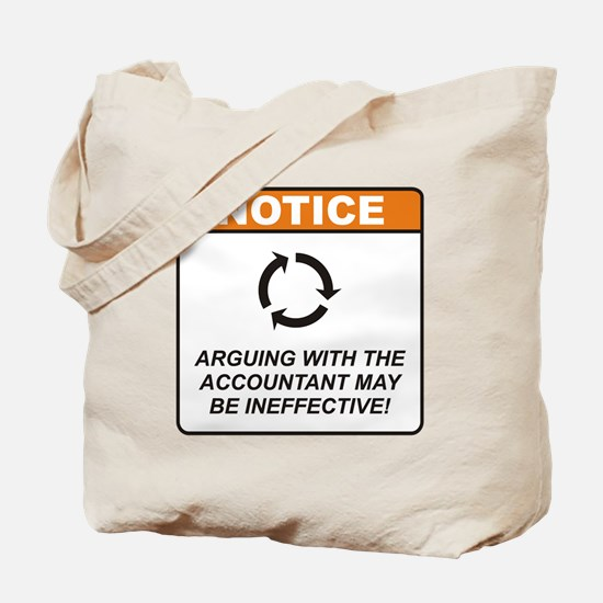 Accountant / Argue Tote Bag