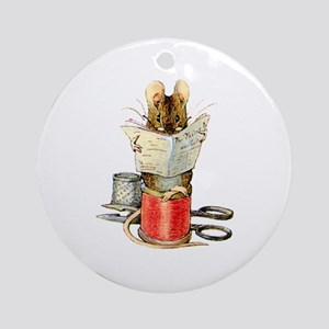 The Tailor of Gloucester Ornament (Round)