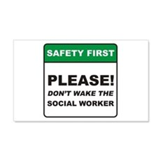 Social Worker / Wake 22x14 Wall Peel