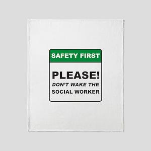 Social Worker / Wake Throw Blanket