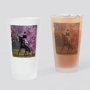 Spring Half Pass Dressage Drinking Glass