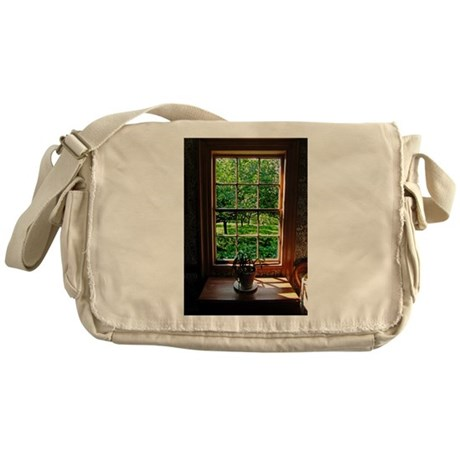 Colonial Cottage Window Messenger Bag