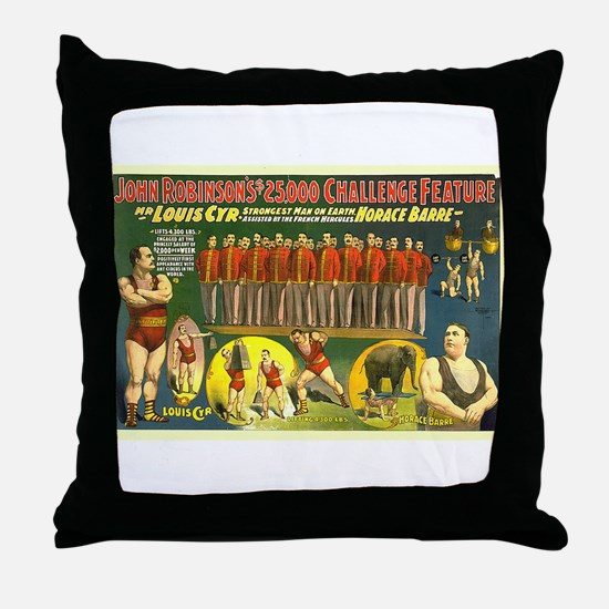 The Strongest Man On Earth Throw Pillow