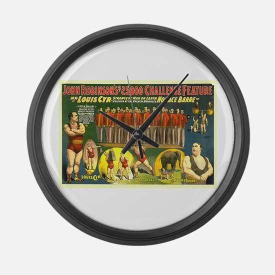 The Strongest Man On Earth Large Wall Clock