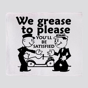 Grease to Please Throw Blanket